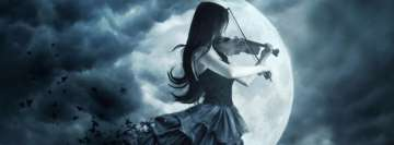 Gothic Violin Play Facebook Cover Photo