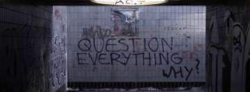 Graffiti Question Everything Why Facebook cover photo