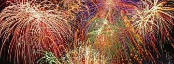 Grand Fireworks - Happy New Year Facebook Cover-ups