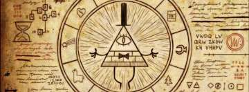 Gravity Falls and Illuminati Facebook cover photo