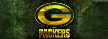 Green Bay Packers Grunge Logo Facebook Wall Image