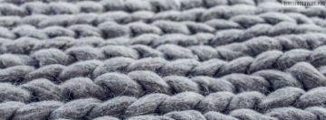 Grey Knitting and Crochet Background Facebook Banner