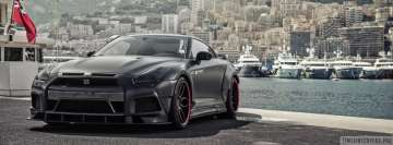 Grey Nissan GT R Facebook cover photo