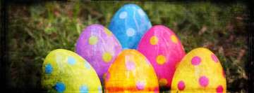 Grunge Easter Eggs Facebook Background TimeLine Cover