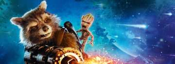 Guardians of The Galaxy 2 Rocket Raccoon and Groot