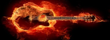 Guitar Flames Facebook Background
