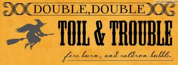 Halloween Double Toil Trouble Facebook Cover-ups