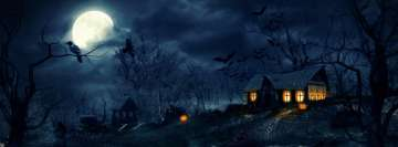 Halloween House Facebook Cover-ups