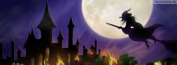 Halloween Moon Witch Fb Cover