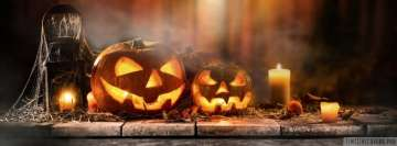 Halloween Pumpkins with Candles Facebook Cover-ups