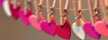 Hanging Hearts Facebook Background TimeLine Cover