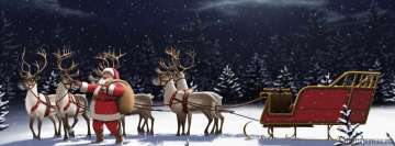 Happy Christmas Happy Deers Facebook cover photo