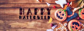 Happy Halloween Wooden Table Facebook Banner
