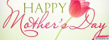 Happy Mothers Day Pink Tulip TimeLine Cover