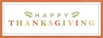 Happy Thanksgiving Colorful Facebook Cover-ups
