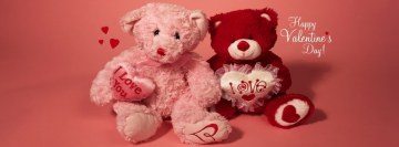 Happy Valentine Teddy Bears Facebook Background TimeLine Cover