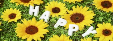 Happy Flowers Facebook Background TimeLine Cover