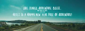 Happy New Year Adventure Facebook Wall Image