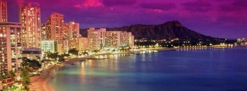 Hawaii beach by night Facebook Banner