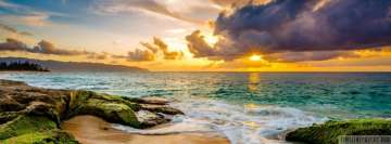 Hawaiian Beach Sunset Facebook Wall Image