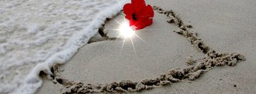 Heart on The Sand Facebook Wall Image