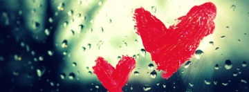 Hearts on The Window Facebook Cover Photo