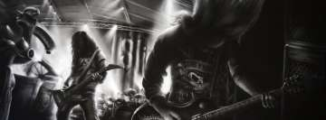 Heavy Metal Concert Drawing Facebook Cover Photo