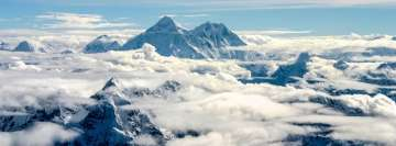 Highest Point in The World Mount Everest Facebook cover photo
