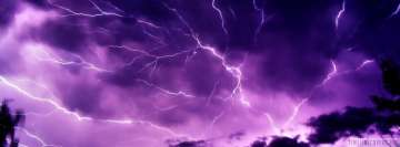 Huge Purple Lightning Facebook Banner