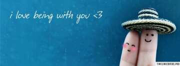 I Love Being with You Facebook Wall Image