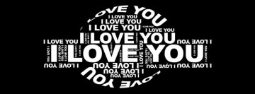 I Love You Letters Facebook Banner