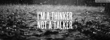I am a Thinker Facebook Wall Image