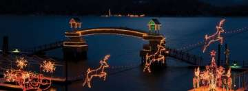 Idaho Christmas Lights on a Lake