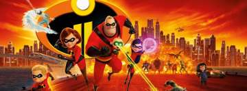 Incredibles 2 Running Facebook Banner