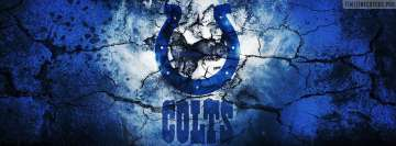 Indianapolis Colts Grunged Logo Facebook Wall Image