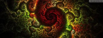 Infinity Fractal Art Facebook cover photo