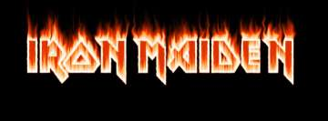 Iron Maiden Burning Letters Facebook Cover Photo