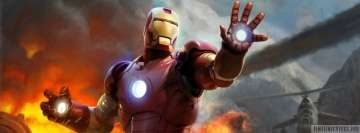 Iron Man Hands Up Facebook Wall Image