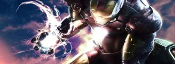 Iron Man Tony Stark Energy Facebook Banner
