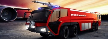 Iveco Magirus Airport Firefighter Truck Facebook Cover