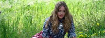 Jennifer Lawrence in Grass Facebook Background TimeLine Cover