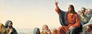 Jesus Talking to People Christian Facebook cover photo