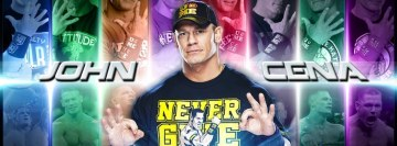 John Cena 10 Years Strong Version 2 Facebook Cover Photo