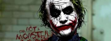 Joker Not a Monster Facebook Wall Image