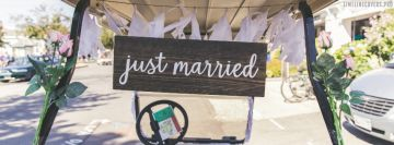 Just Married Facebook cover photo