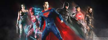 Justice League in Action Facebook Wall Image