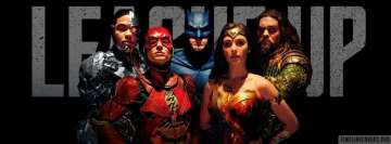 Justice League League Up Facebook Wall Image