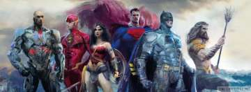 Justice League Painting Facebook cover photo