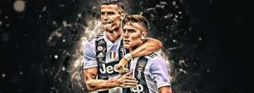 Juventus FC Cristiano Ronaldo Paulo Dybala Facebook Background