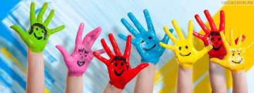 Kids Having Fun with Paints Facebook Banner